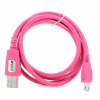 USB to Micro USB Data / Charging Cable for Samsung / HTC / Motorola / Nokia - Deep Pink (1m)