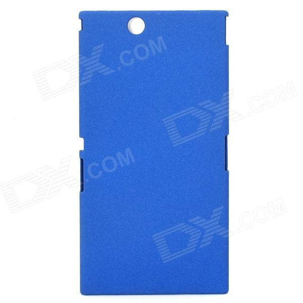 все цены на Quicksand Style Protective ABS Back Case for Sony XL39h - Blue онлайн