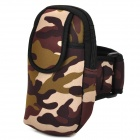 Universal Sports Neoprene Zipper Armband Bag for Samsung Note 2 / S4 + More - Camouflage Green