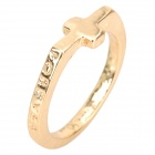 Stylish Cross Style Gold-plated Alloy Ring - Golden
