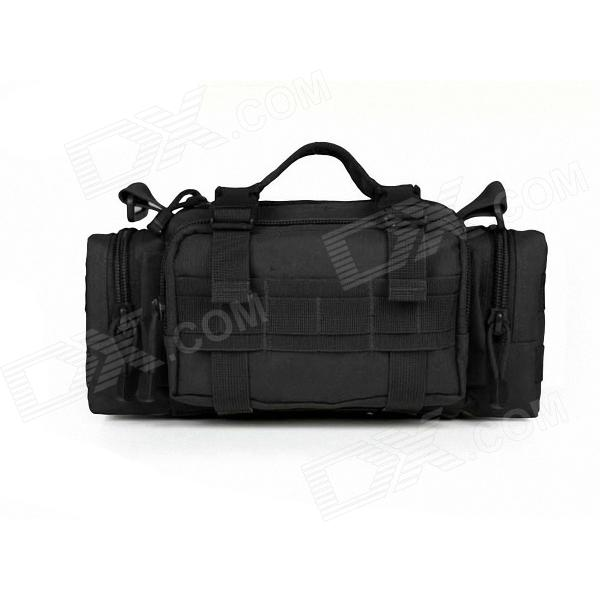 ESDY Nylon Multi-functional Mountain Biking Waist Bag - Black cleaner combustion and sustainable world