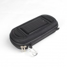 One percent BM-2085 Portable Solar Powered Mobile Power Battery Charger + Speaker - Black