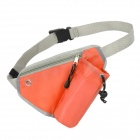 Outdoor Triangle Nylon Water Bottle Waist Bag - Orange + Grey