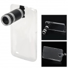 Portable 8X Telescope w/ Back Case for Samsung i9200 - Black + Silver + Transparent