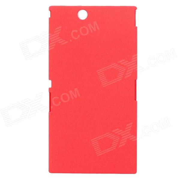все цены на Quicksand Style Protective ABS Back Case for Sony XL39h - Red онлайн