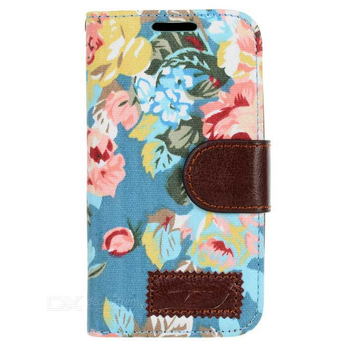 Protectora de cuero PU Robusto Cloth Case for Samsung Galaxy S4 Mini i9190
