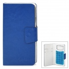 "Universal Protective PU Leather Case w/ Rotation Cover for 4.3~4.7"" Cell Phones - Blue"