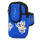 Universal Sports Neoprene Zipper Armband Bag for Samsung Note 2 / S4 + More - Blue