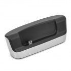 Stylish Charging Docking Station w/ USB Data/Charging Cable for HTC Butterfly S - Silver + Black