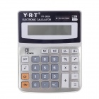 "YRT YR-900A 3"" LCD 8-Digit Electronic Calculator - Grey + Orange + Black (1 x AG10)"