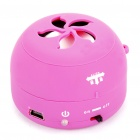 Stylish Ultra Portable USB Rechargeable Speaker - Red (3.5mm/DC 5V)