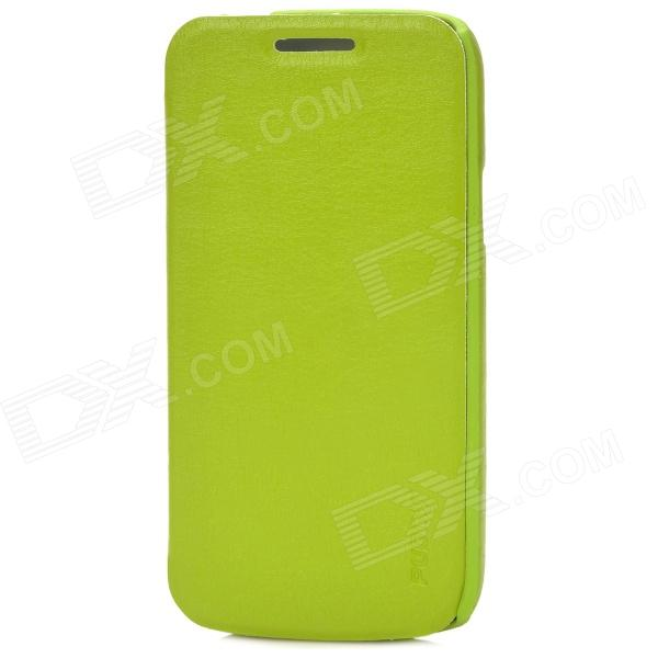 Pudini LXI9190M Protective PU Leather + PC Case for Samsung Galaxy S4 Mini i9190 - Green protective hard pc back case for samsung galaxy s4 mini i9190 black