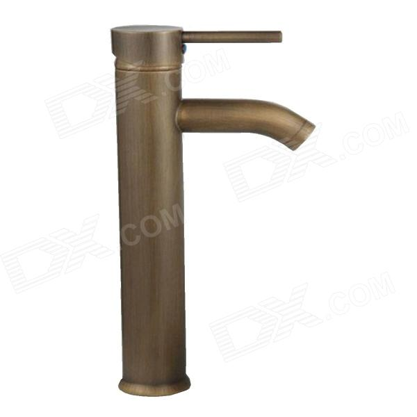 YDL-F-0509 Single Handle Antique Brass Bathroom Art Faucet - Bronze