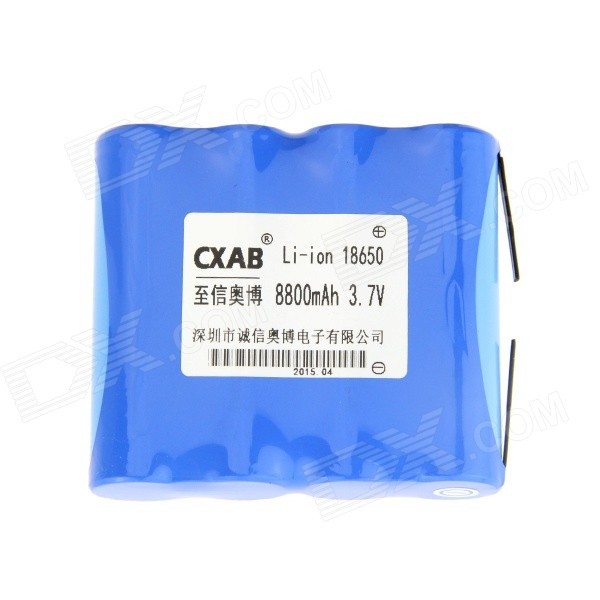 AOB 18650 3.7V 8800mAh Rechargeable Li-ion Battery Pack - Blue 3 6v 2400mah rechargeable battery pack for psp 3000 2000