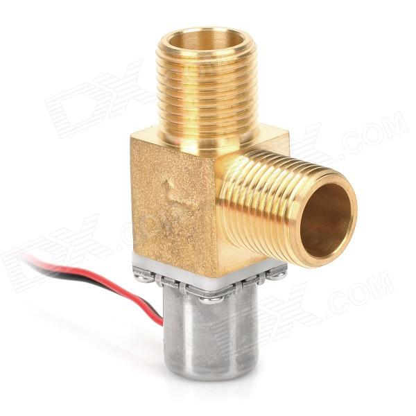 ZJ-S201K Copper Water Air Oil Solenoid Valve - Golden sy3220 5lou c6 smc solenoid valve electromagnetic valve pneumatic component air tools sy3000 series