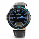 "Power Disk MP26 0.5"" LCD Alcohol Test Watch - Black + Silver + Blue"