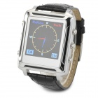 LV-2500 Muslim Pilgrims PU Leather Band Digital Wrist Watch - Black + Silver