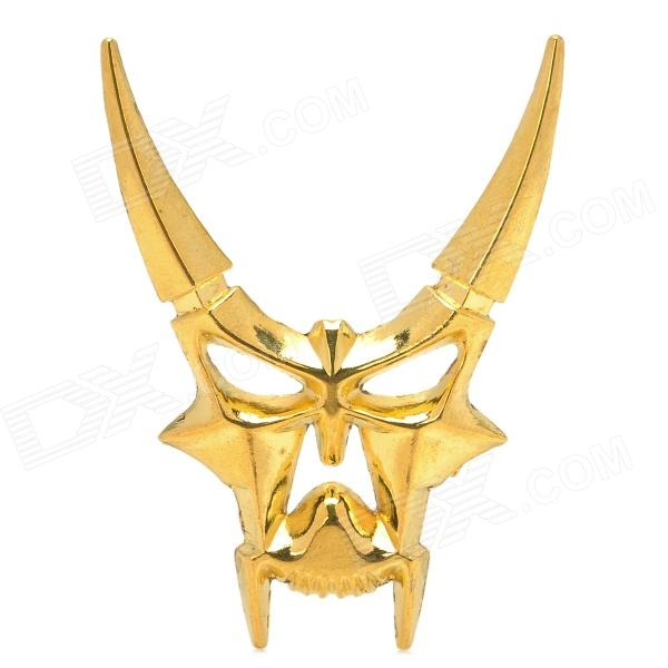 Cool 3D Zinc Alloy Devil Style Decorative DIY Sticker for Car - Golden r b parker s the devil wins