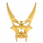 Cool 3D Zinc Alloy Devil Style Decorative DIY Sticker for Car - Golden