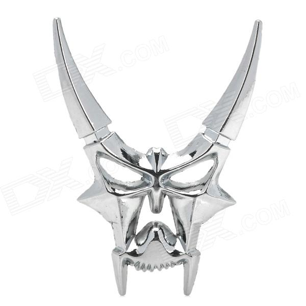 Cool 3D Zinc Alloy Devil Style Decorative DIY Sticker for Car - Silver r b parker s the devil wins