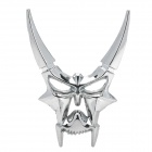 Cool 3D Zinc Alloy Devil Style Decorative DIY Sticker for Car - Silver
