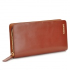 SAMMONS 350045-24 Cow Leather Long Zipper Wallet for Men - Brown