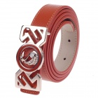 Rich Age Swan Pattern Fashionable Women's Belt - Copper + Claybank