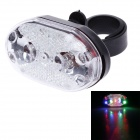 Hai Yin HY-208 90lm 9-LED 5-Mode Bicycle Safety RGB Warning Light - Black + Silver (2 x AAA)