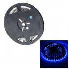 HML Waterproof 24W 490nm 300-3528 SMD LED Blue Light Car Decoration Light Strip - Black (5M)