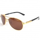 ReeDoon 586 UV400 Protection Resin Lens Polarized Sunglasses - Golden