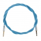 3.5mm Audio Male to Male Connection Cable - Light Blue (98cm)