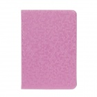 Honeycomb Texture Style Protective PU Leather Case Cover Stand w/ Auto-Sleep for iPad Mini - Pink