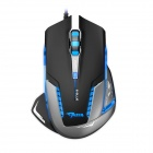 E-3lue EMS600BKAA-NU USB Wired 2500dpi Optical Gaming Mouse w/ Blue LED - Grey + Black