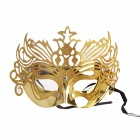 PDMF-MJ Painted Princess Crown Mask for Costume Party - Golden
