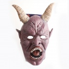 PDMF-JYGS Scary Monster Mask with Sharp Teeth for Halloween Cosplay - Purple