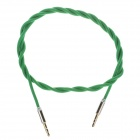 Woven Rope 3.5mm Audio Male to Male Connection Cable - Green (102cm)