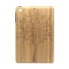 Retro Tree Pattern Protective Wooden Back Case for Ipad MINI - Yellow + Brown
