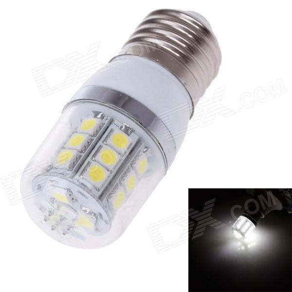 ZIYU ZY-0909 E27 5W 450lm 6500K 24-SMD LED White Light Lamp Bulb - Yellow + Silver + White (220V) ziyu zy 0814 005 7w 1200lm 470nm 120 led blue light decorative lamp strip white 12m 220 240v