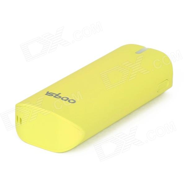 YSbao YSB-S3 5600mAh Portable Power Source Battery Bank w/ Flashlight for iPhone + More - Yellow
