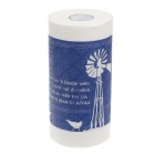 Novelty Pinwheel Pattern Toilet Paper 2-Layer Roll Tissue - White + Blue