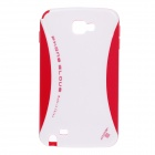 NEWTOP Protective Silicone Back Case for Samsung Galaxy Note 2 N7100 - White + Red