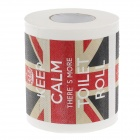 Novelty Union Jack Pattern Toilet Paper 3-Layer Roll Tissue - White + Black + Red + Beige