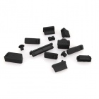 ENKAY Universal Anti-dust Plugs for Lenovo / HP Laptop - Black (13PCS)