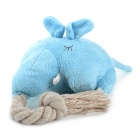 Doglemi DM50051 Elephant Style Cotton Plush Dog Pet Toy - Blue