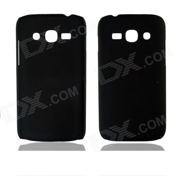 Fashionable Super Thin Protective Glaze PC Back Case for Samsung S7270 / S7272 - Black