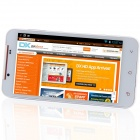 "S5 MTK6589T quad-Core Android 4.2.1 WCDMA Bar Phone w / 5.0 ""HD, 32 GB ROM, 2 GB RAM, GPS-Hvit"