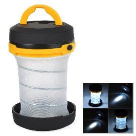 Convenient Outdoor 3-mode LED Tent Lamp for Camping - Black + Yellow (3 x AA)