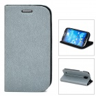 GTcoupe S-027 Protective PU Leather Flip-Open Case for Samsung Galaxy S4 i9500-Silver