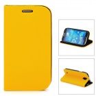 GTcoupe S-027 Protective PU Leather Flip-Open Case for Samsung Galaxy S4 i9500-Yellow