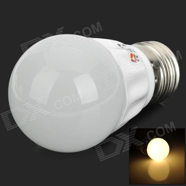 Lexing LX-QP-1 E27 3W 200lm 3500K 6-5730 SMD LED Warm White Light Bulb - White lexing lx qp 20 e14 6w 470lm 3500k 15 5730 smd led warm white light dimmable lamp ac 220 240v